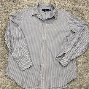 Ralph Lauren sear sucker dress shirt